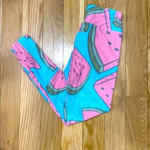 NWOT - OS Watermelon leggings